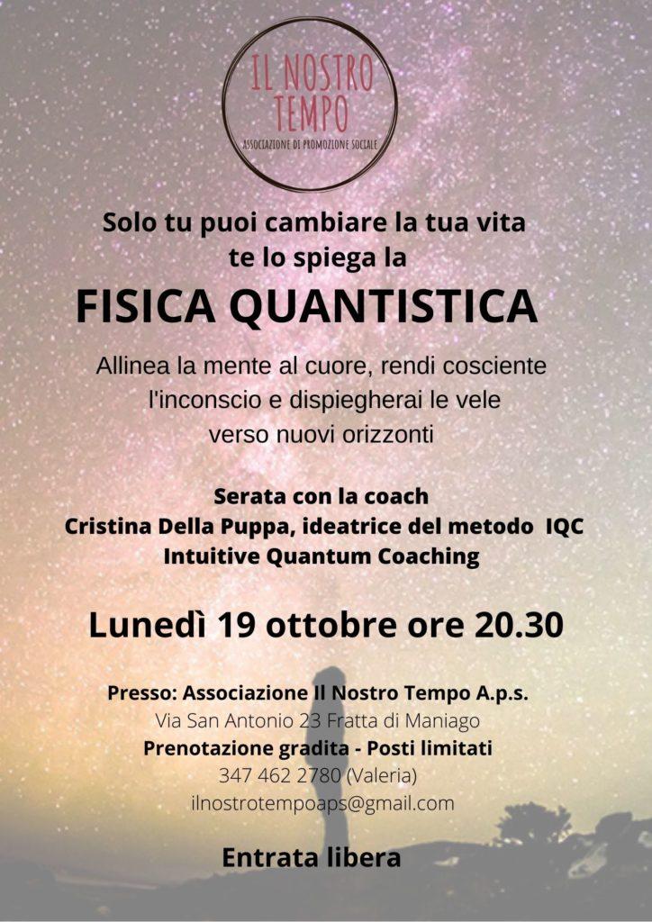 Fisica Quantistica ottobre 2020 724x1024 Conferenza: solo tu puoi cambiare la tua vita, te lo spiega la fisica quantistica